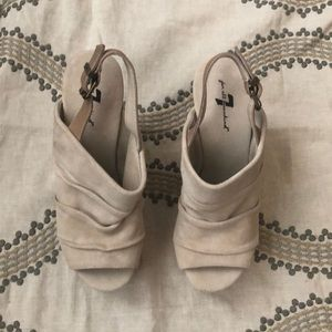 7  for all Mankind wood heels 7 1/2